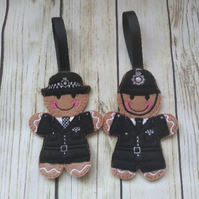 Police Officer Gingerbread decoration, Policeman, policewoman gifts