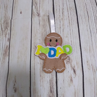 Dad gift, available as fridge magnet or hanging decoration, christmas decoration