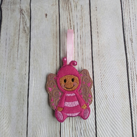 Butterfly Gingerbread decoration, gingerbread nursery wall hanging decoration
