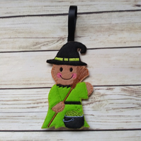 Halloween witch Gingerbread decoration -Halloween fridge Magnet