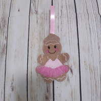 Ballerina Gingerbread decoration, ballet dancer gingerbread nursery wall hanging