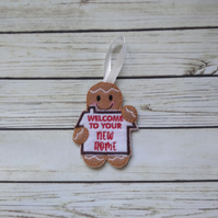 New Home gift, New Home gingerbread decoration, house warming gift