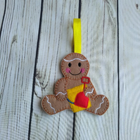 Holiday Gingerbread man, gingerbread man decoration, beach fridge magnet