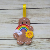 Rainbow sunshine gingerbread decoration, rainbow gifts