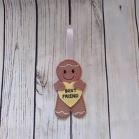 Best Friend Gingerbread decoration - best friend Fridge Magnet, best friend gift