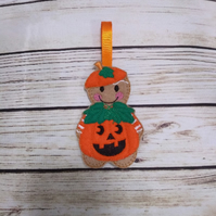 PumpkinHalloween decoration, Pumpkin Gingerbread fridge magnet