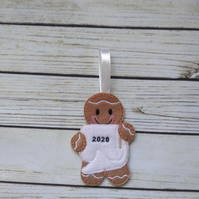 2020 toilet paper gift, 2020 toilet paper gingerbread decoration,