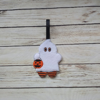 Halloween Ghost Gingerbread decoration - fridge Magnet