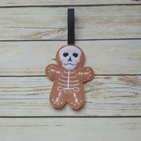 Halloween Skeleton Gingerbread decoration - fridge Magnet - Keyring