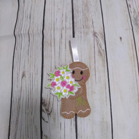 Say it with Flowers gingerbread decoration, mum gift, flowers gift