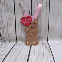 Mum Pocket Hug Gingerbread man, A gift for mum, send a hug to mum