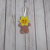 Daffodil Gingerbread decoration - keyring - fridge magnet