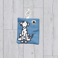 Dalmatian dog gift, Dalmatian dog poo bag roll holder,