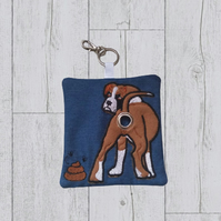 Boxer dog poop bag dispenser, dog poo roll holder