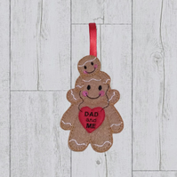 Dad and Me decoration, nursery decor, Christmas tree decoration