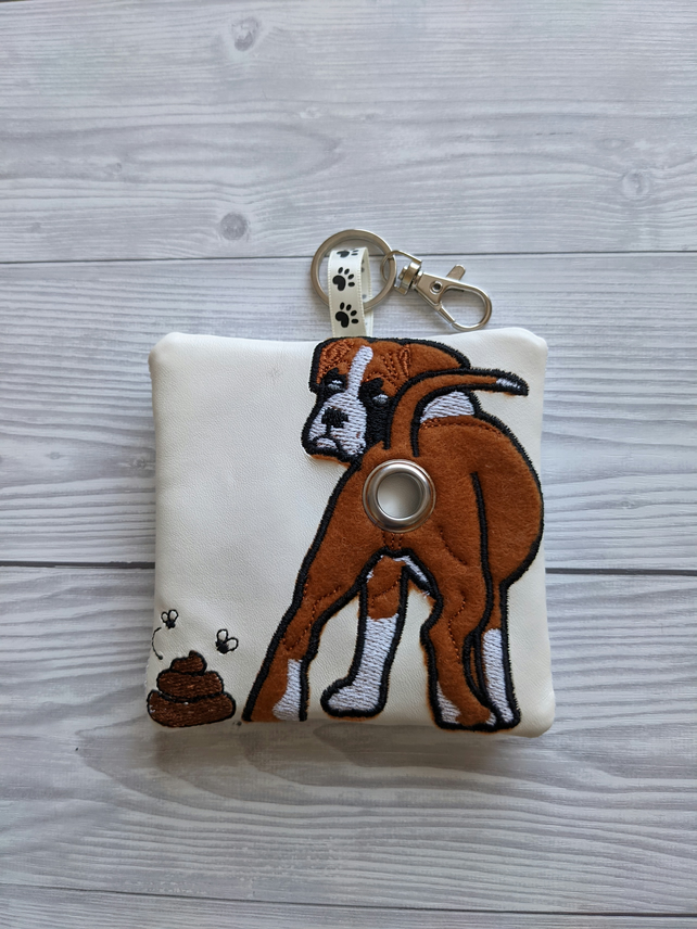 Boxer dog poop bag holder, boxer dog gifts