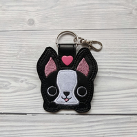 Cute French bulldog keyring, French Bulldog Gifts