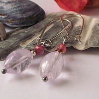Amethyst and agate earrings