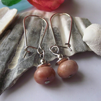 Cherry blossom jasper earrings