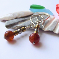 Golden yellow agate earrings
