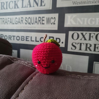 Small crochet red apple soft toy