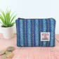 Blue striped Harris Tweed Coin Purse