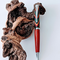 162  Ballpoint Pen made from Oasis Colour Grain Wood and Padauk