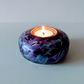 803 Iridescent  Tea Light Holder made from Maple ( Free Postage )