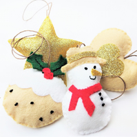 Felt Christmas Tree Decorations Craft Kit: DIY Felt Xmas Ornaments