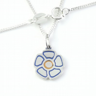 Flower Pendant (Small), Handmade from Sterling Silver