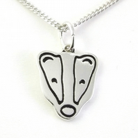 Badger Pendant (Small), Handmade from Sterling Silver