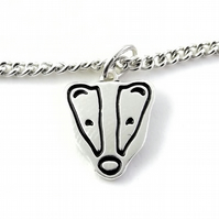 Badger Anklet, Handmade from Sterling Silver