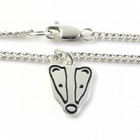 Badger Bracelet, Handmade from Sterling Silver
