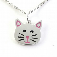 Cat Pendant Handmade from Sterling Silver