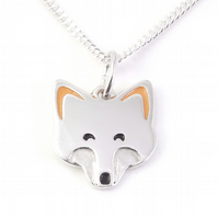 Fox Pendant (Small), Silver Wildlife Necklace, Handmade Animal Gift