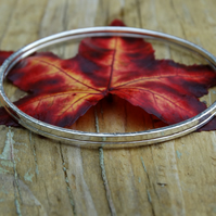 Eco Silver hammered bangle duo fully hallmarked