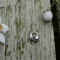 Artefact tiny charm pendant in recycled silver
