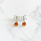 3mm Sterling Silver and Orange Topaz Ear Studs. The Magnificent Minis.