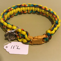 "Snazzy Woven 11""L Paracord Cat Collars"