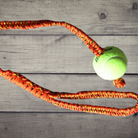 Ball & Rope Pet Toy, Handmade Dog Toy, Paracord Dog Toy