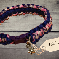 "12"" Woven Paracord Cat Collar"