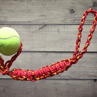 Pet Toy, Ball & Rope Dog Toy, Handmade Pet Toy