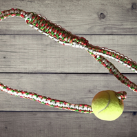 Ball & Rope Pet Toy, Dog Toy, Paracord Dog Toy, Interactive Dog Toy