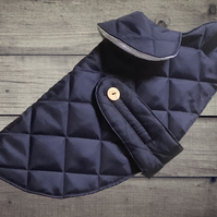 Waterproof Quilted Dog Coat, Handmade Quilted Pooch Jacket, Handcrafts4Pets