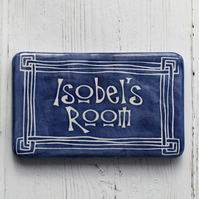A280 Personalised door name plaque (Free UK postage)