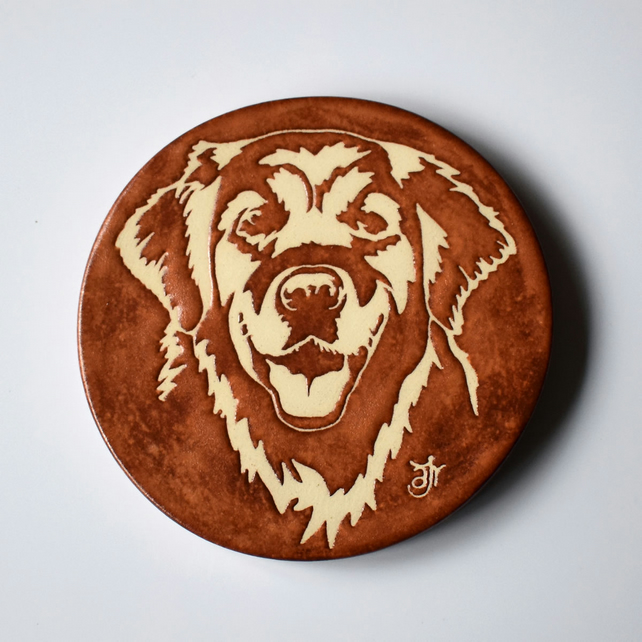 A230 Golden Retriever mug coaster (Free UK postage)
