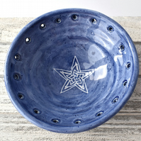 19-397 Small blue trinket dish