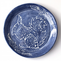 A140 Decorative squirrel plate (Free UK postage)