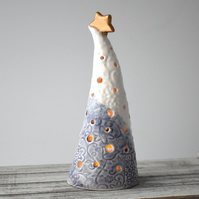 A310 Ceramic Christmas Tree Tea Light Holder (UK postage free)