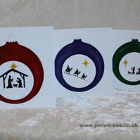 Christmas cards 3 Nativity Kings Shepherds printed from an original watercolours